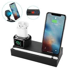[Promo] 8 In 1 Qi Wireless Charger Fast Charging Phone Holder For ...