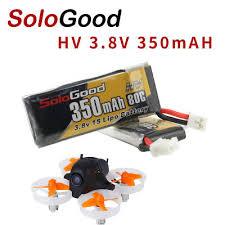 5PCS <b>SoloGood Lipo Battery</b> 1S 3.8V 350mAh 80C with PH2.0 Plug ...