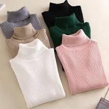 Women New Fashion Turtleneck Thin Sweater Autumn ... - Vova