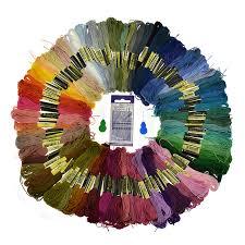 <b>Random</b> Mix <b>Color 100pcs</b> Embroidery Thread Cross Stitch Threads ...