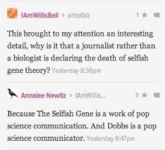 "Epimemetics and the ""Selfish Gene"" ~ AmericanScience: A Team Blog via Relatably.com"