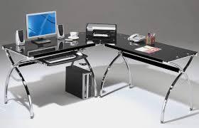 black wooden l shaped computer desks black metal computer desk