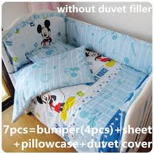 67pcs mickey mouse baby bedding set 100 cotton crib bumper baby baby mickey crib set design