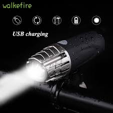 Walkefire Mountain Bike <b>light</b> Usb Rechargeable Bicycle LED Front ...