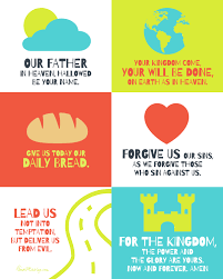 blank wall house mix page  the lord s prayer poster for kids