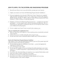 resume for job shadowing tk resume for job shadowing 25 04 2017