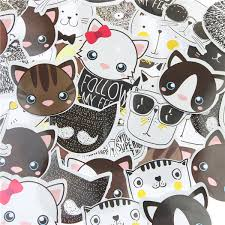 Купить Оптом Оптово 45 Шт / <b>Много Cute</b> Cat Head Mini Бумага ...