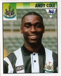 NEWCASTLE UNITED - Andy Cole #331 MERLIN'S English Premier League 1995 Football Sticker - newcastle-united-andy-cole-331-merlin-s-english-premier-league-1995-football-sticker-57549-p