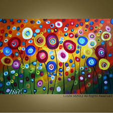room contemporary formal abstract painting custom dancing poppies original modern abstract by fineartsale great p