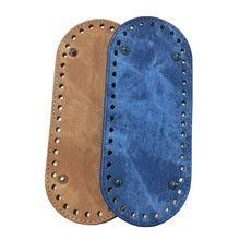 <b>21x9cm</b> Bag <b>Bottom</b> Denim Oval Leather Bottoms with Holes Bag ...