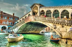 Image result for rialto bridge in night time