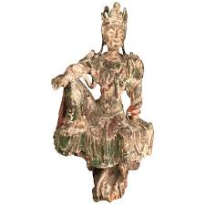 <b>Chinese Guan Yin</b> figure Early Ming Dynasty For Sale at 1stdibs