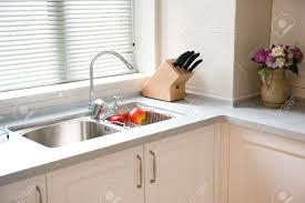 clean kitchen: stock photo interior design of clean modern kitchen