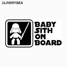 Car Styling Star Wars Cartoon Astronaut <b>BABY</b> SITH ON BOARD ...
