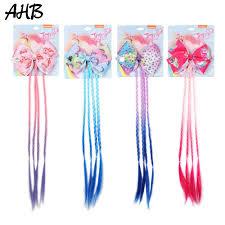 <b>AHB</b> Hair Accessories Shiny Star Hair Bows for Girls Hair Clips with ...