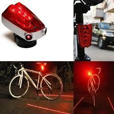 Sport Parallel Line Bicycle Bike <b>5 LED Laser</b> Light Parallel 2Laser ...