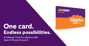 Subway Card | SUBWAY.com - Canada (English)