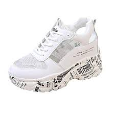 <b>Women Running Shoes</b> Sneakers Thick Bottom <b>Wedges</b> Neutral ...