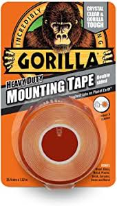 Gorilla Glue 3044101 <b>Heavy</b>-Duty <b>Double Sided</b> Mounting <b>Tape</b> ...