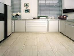 Stone Floor Tiles Kitchen Catchy U Shaped White Kitchen Unit Set On Modern Stone Floor Tile