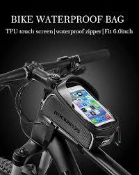 WILD MAN Hard Shell Touch Screen <b>Bicycle Front</b> Top Tube <b>Bike</b> ...