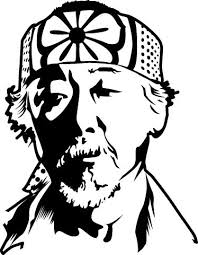 Mr Miyagi Karate Kid <b>Movie Decal</b> | <b>Silhouette</b> art, Karate kid, Karate ...
