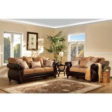 furniture of america frankford livingroom set in tan and espresso cadenza furniture