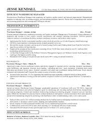 resume examples warehouse resume objectives warehouse worker   efficient warehouse resume manager professinal experience as warehouse s manager and education