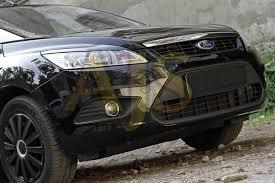 Ford Focus II 2008—2010 <b>Накладки на передние фары</b> (реснички ...