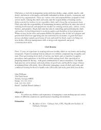 cover letter pastry chef resume example example of pastry chef chef resume objective