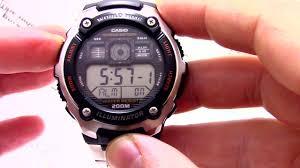 <b>Часы Casio</b> Illuminator <b>AE</b>-<b>2000WD</b>-<b>1A</b> - Инструкция, как ...