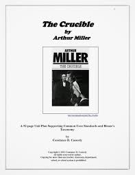 teach it write literature novel ideas high school unit plan the crucible