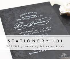 Stationery 101: <b>Printing</b> White Ink on Dark Paper — Sincerely Jackie ...