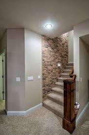 basement stairs brick wall bedroomknockout carpet basement family