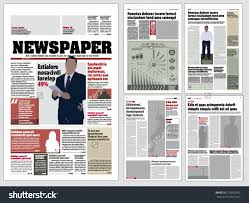 graphical layout newspaper template stock vector  graphical layout newspaper template