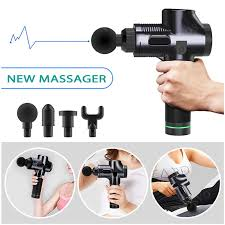 <b>LCD Display Massage</b> Gun Deep Relaxation Muscle Massager ...
