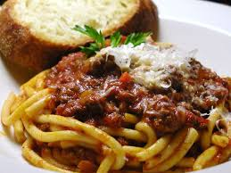 Image result for picture of a spaghetti dinner