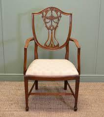 hepplewhite shield dining chairs set: set of eight hepplewhite design edwardian antique mahogany dining chairs