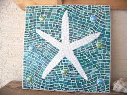 mosaic wall decor: mosaic starfish wall art starfish decor wall hanging stained glass mosaic