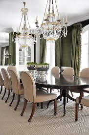 dining room khaki tone: old school charm amp beauty love the green drapes and wall treatment looks pretty with the khaki camel chairs light carpeting white cabinetry casings