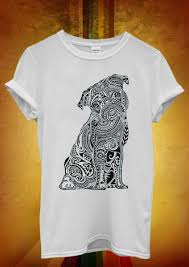 <b>Ethnic Pug Cute Dog</b> Animal Funny Men Women Unisex T Shirt ...