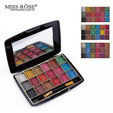 <b>MISS ROSE</b> Makeup <b>18 Color</b> Metallic <b>Glitter</b> Eyeshadow Palette ...