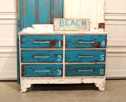 painted furniture blue white stenciled numbers white beach furniture