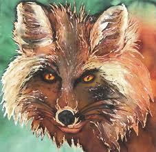 <b>Mr</b>. <b>Fox</b> - Nina Major <b>Watercolor</b> Art & Silk Painting