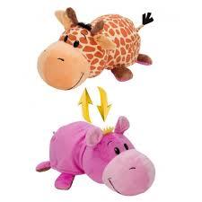 <b>Мягкая игрушка 1 TOY Вывернушка</b> Жираф-Бегемот 20 см ...