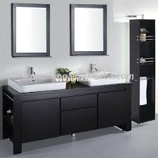 double bathroom white sinks espresso cabinet black framed mirrors over sinks clean square lines bathroom pinterest black and white bathroom furniture