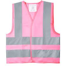 <b>Жилет</b> детский светотражающий Glow, M, розовый оптом под ...