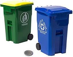 DONGMIAN Mini Wheelie Trash Can <b>Pen Holder Storage Bin</b> ...