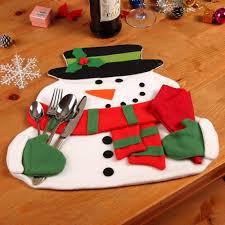 household dining table set christmas snowman knife:  sets lot christmas snowman placemat napkin table mats for dining table christmas decorations