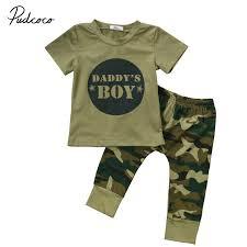 <b>2pcs baby</b> clothes <b>Newborn Toddler Army</b> green <b>Baby</b> Boy Girl letter ...
